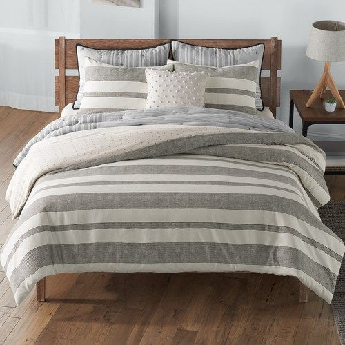 Sonoma Goods For Life Farmhouse Stripe Comforter Set With Shams Comforter Sets Duvet Cover Master Bedroom Farmhouse Bedding Sets