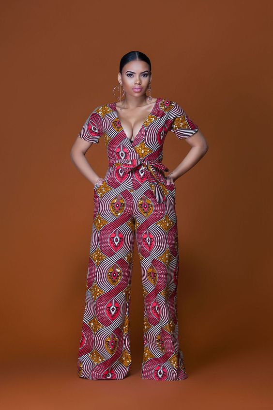 African Print Malawi Jumpsuit