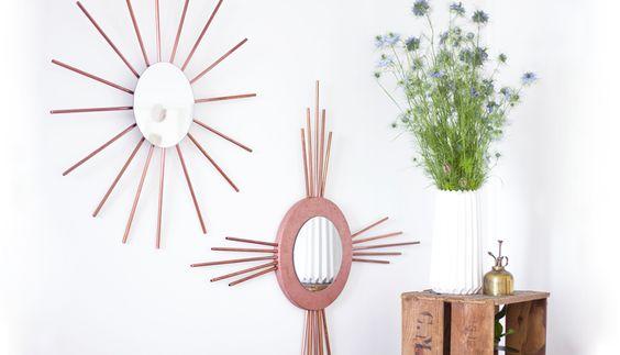 DIY tuto Miroirs rosaces en cuivre