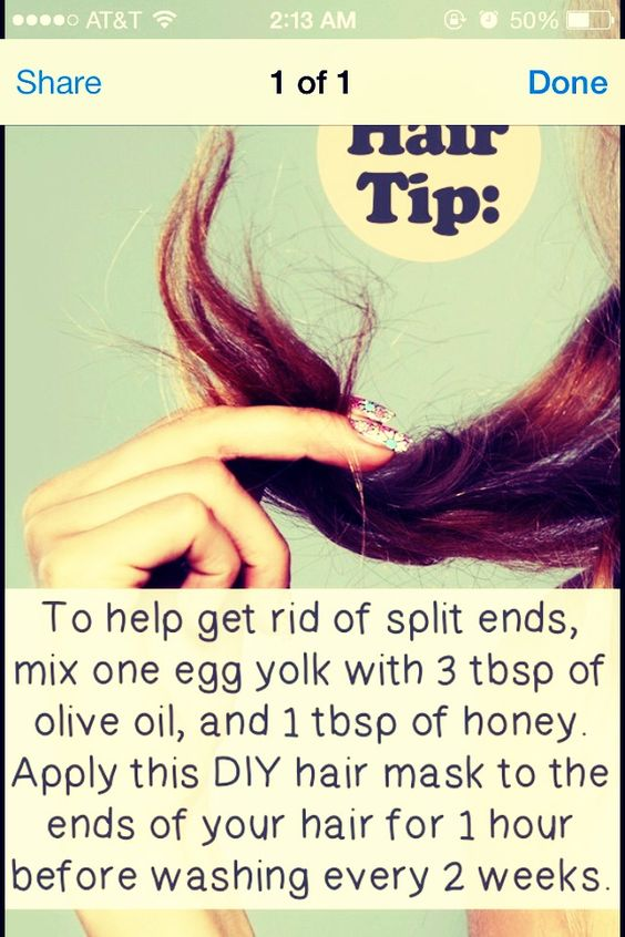 Split Ends Repair Treatment 1. 1 Tbsp olive oil 2. 1 Tbsp honey 3 ...
