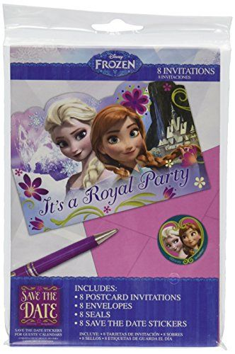 disney frozen birthday party invitation cards supply  pack, 4 x 6 invitation cards