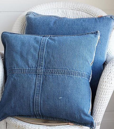 Cuscini Di Jeans.Crea Dei Cuscini Originali Con I Tuoi Vecchi Jeans Alte Jeans