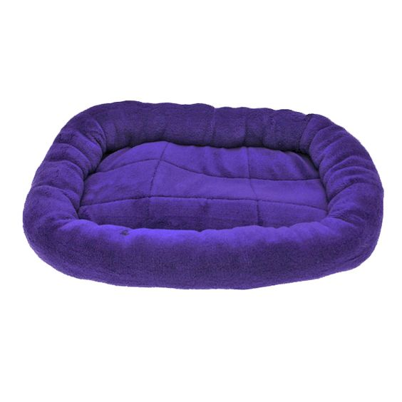 Slumber Pet Bright Terry Crate Dog Bed - Purple