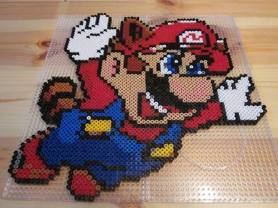 super mario raccoon aus b gelperlen hama perler beads. Black Bedroom Furniture Sets. Home Design Ideas