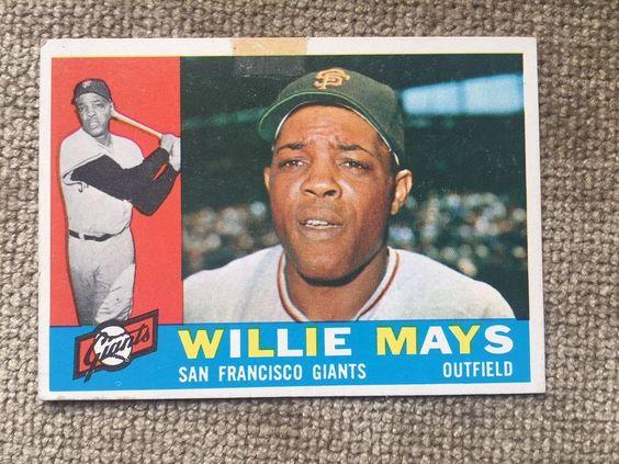 1960 Topps #200 Willie Mays - San Francisco Giants  | eBay