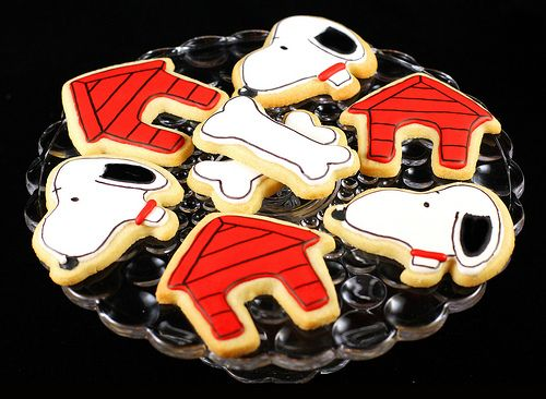 Snoopy and Dog House Sugar Cookies:
