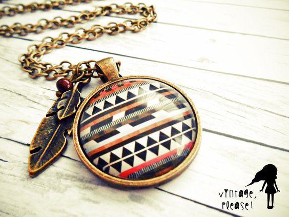 Indian Summer ▼△ Kette ▼△ Ethno von ♡ vintage, please! ♡ auf DaWanda.com