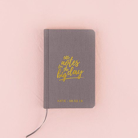 Pocket Journal - Little Notes (Charcoal Linen)