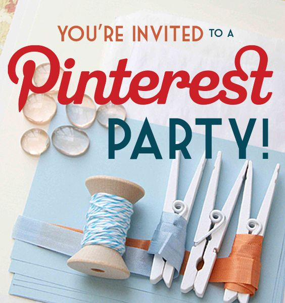 pinterest party - such a fun idea