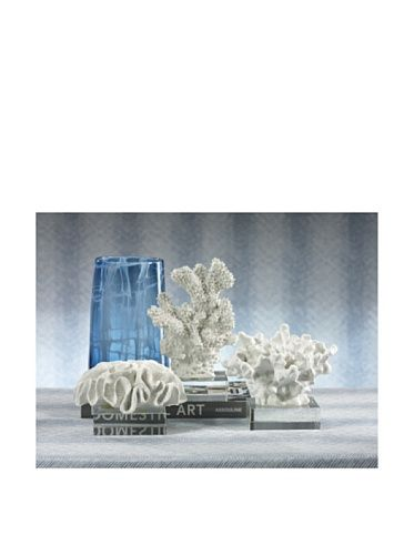 50% OFF Barclay Butera Seaside Classic Coral Sculpture (White/Clear)