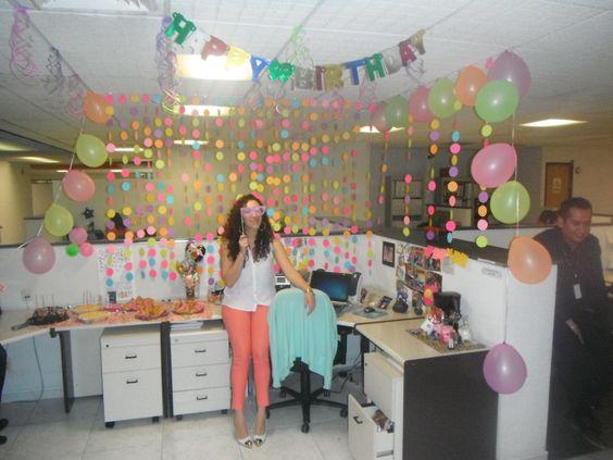 Decoraci n de cumplea os en el trabajo amigurumis addy for Como decorar mi despacho