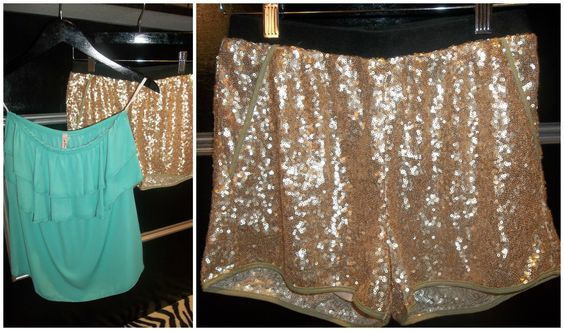 We are loving these sequin shorts that are perfect for any outfit!  Shorts: $47.00 Top: $23.00