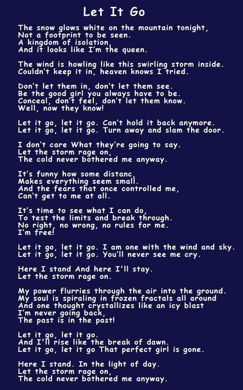 idina menzel frozen let it go lyrics - photo #24