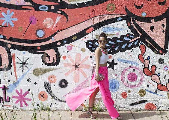 Pink Bird Love is a Delight Wall Pilsen Chicago