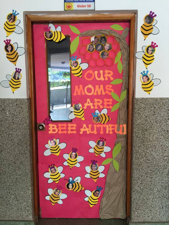 Classroom Ideas For Mothers Day : Mothers day classroom door our moms are bee autiful