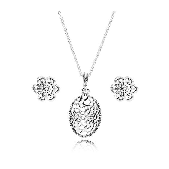 Pandora Silver Daisy Lace Jewellery Set CS010