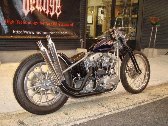 ϟ Hell Kustom ϟ: Harley Davidson By Indian Orange