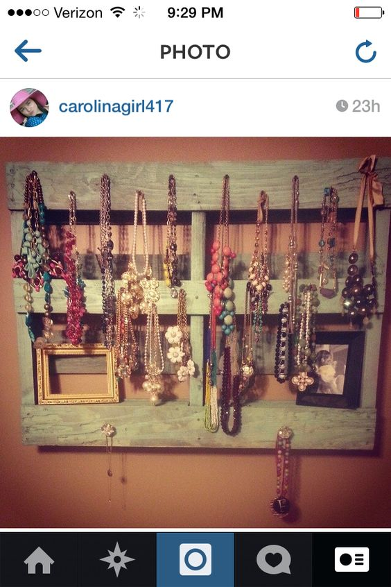 My DIY Pallet Jewelry Holder Crafty Pinterest