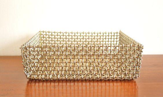 Industrial stainless steel woven basket by highstreetmarket, $48.00