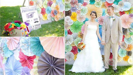 Photoooth mariage rosaces colorées