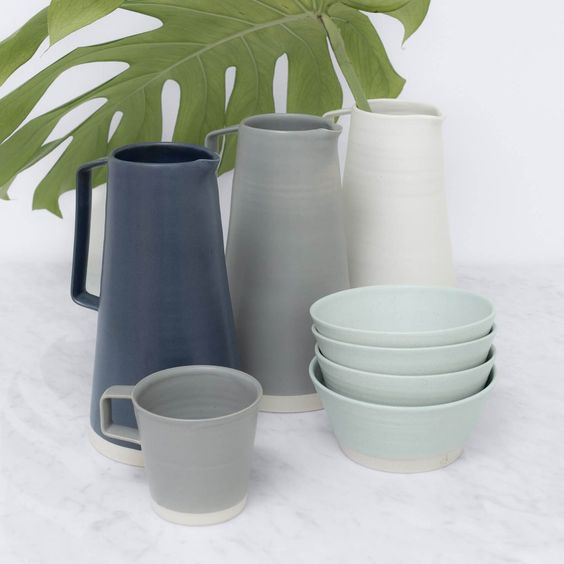 Designed with minimal lines and a subtle color,this pitcher blends with tabletop or kitchen decor - perfect for styling fresh flowers or serving up sangria.