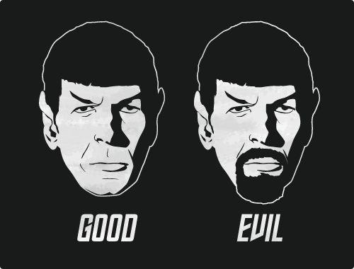 Spock=Good, Mirror Spock=not so Good