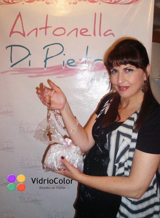 Lola Cordero eligió nuestros denarios para el bautismo de Ema.  Se los entregamos en el baby shower organizado por @Antonella Di Pietro