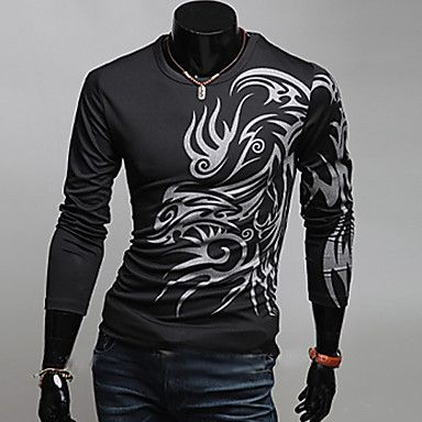 moda cuello redondo camiseta casual anuosi hombres - MXN $ 222.86