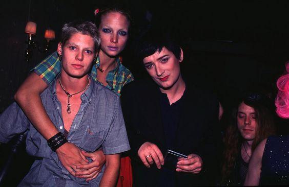 Rachel Williams, Alice Temple, and Boy George, September 1995 Photo: Steve Eichner/WireImage