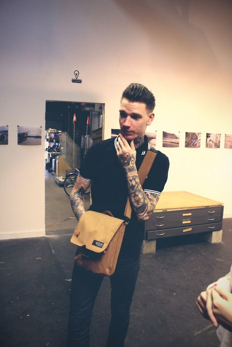 Tattooed guy with a great quiff