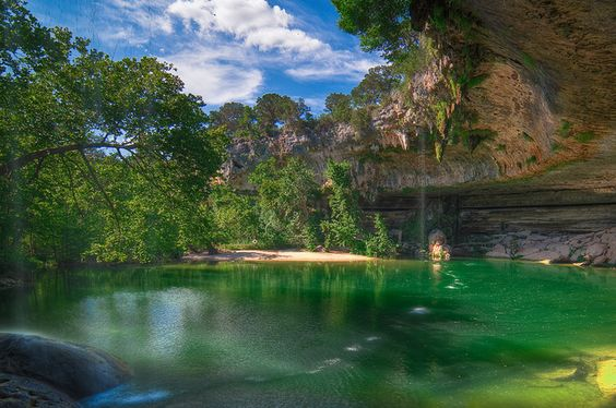 The Hamilton Pool, Austin, Texas, USA: