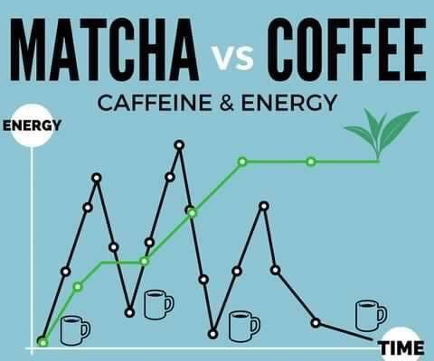 Pin By Emi Yates On Sipology By Steeped Tea Matcha Vs Coffee Caffeine Content Matcha