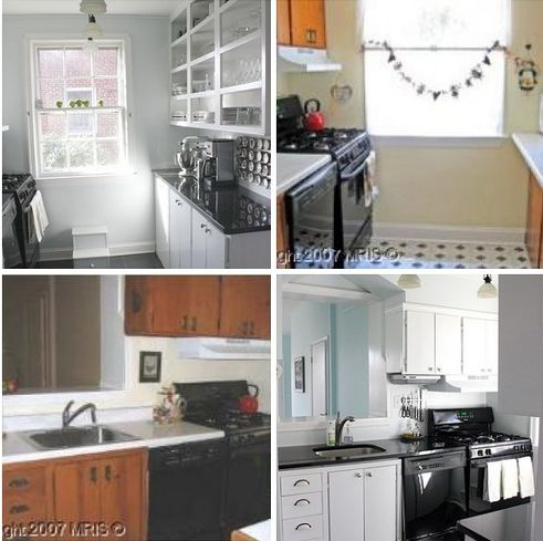 Small Open Galley Kitchen before & after: a modest galley kitchen makeover | galley kitchens