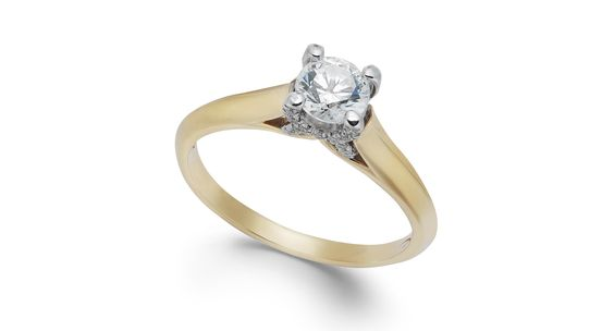 X3 Certified Diamond Engagement Ring in 18k Gold or 18k White Gold (1/2 ct. t.w.)