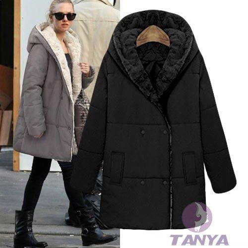 Winter Women&39Sn Hot Fur Thicken Warm Coat Hood Parka Overcoar Long