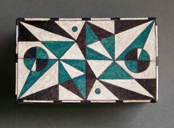 Decorative Box  Hand Drawn Geometric Design  by DixonArtsCrafts, $16.00