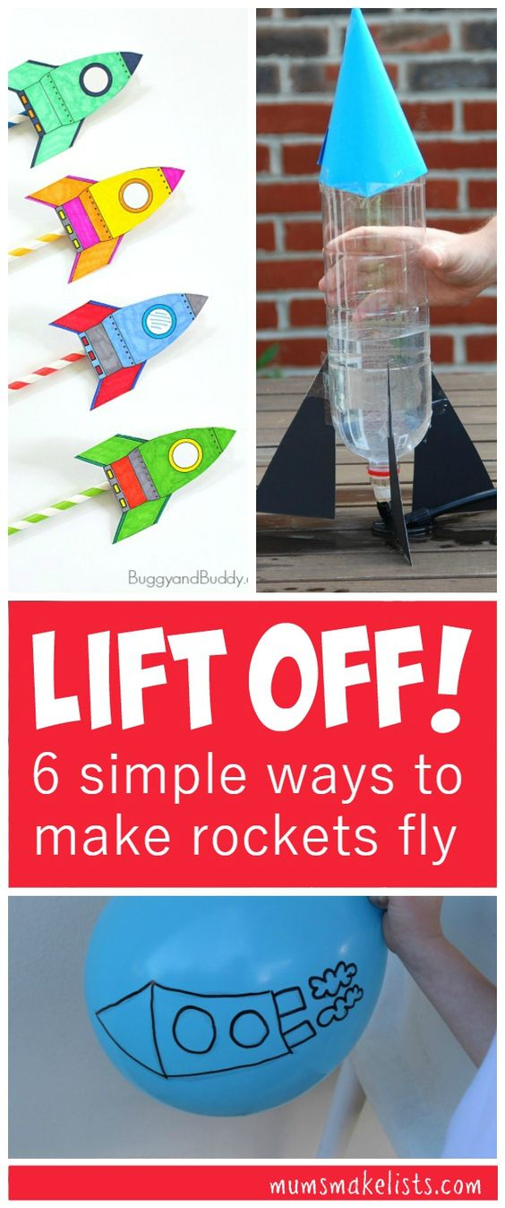 Rockets - 6 simple fun experiments that let even small children explore the forces that launch rockets