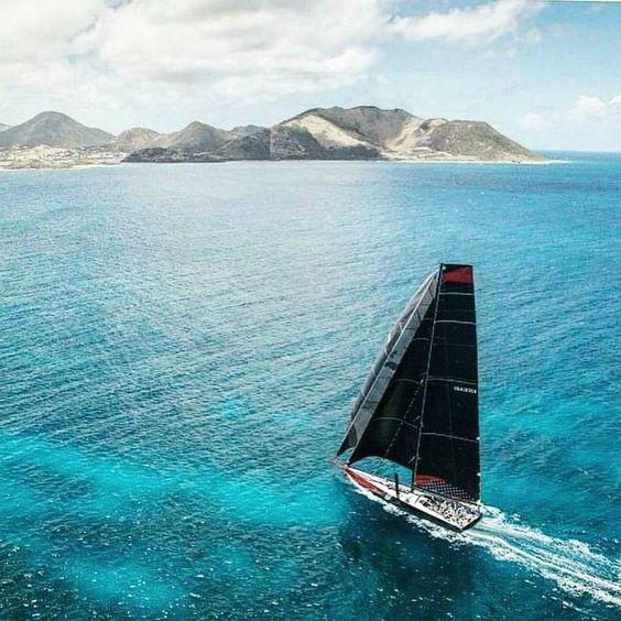 Supermaxi comanche on her way. #superyacht #supermaxi #sailing #boat #racing #regatta #sea #ocean #sky #blue #lifestyle #sydney #hobart by kemaliharun