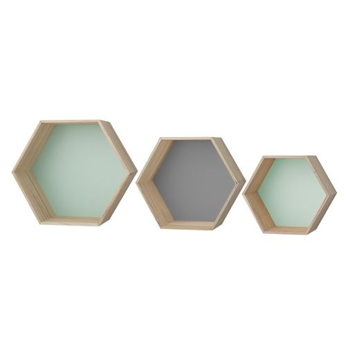 Pastel on pinterest for Decoration murale hexagonale
