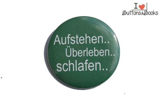 Spruchbutton-50mm-Button-Anstecker-groß+Schlafen+von+Buttons&Books+auf+DaWanda.com