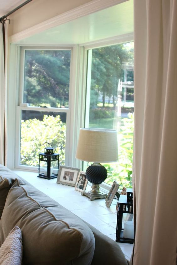 decorate a bay window - Google Search   Window Design Ideas   Pinterest    Window, Decorating and Google search