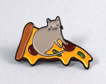 Enamel pin lapel pin cat lapel pin Enamel cat by ilikeCATSshop