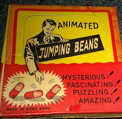 Vintage Animated JUMPING BEANS Toys Original Box 1950s Novelty