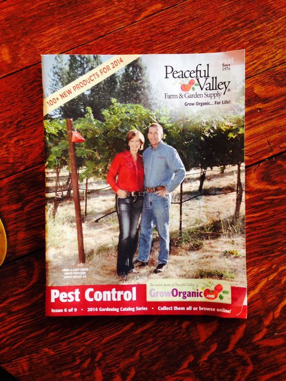 Smith Vineyard on the cover of Peaceful Valley Farm and Garden