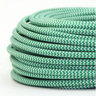 Textilkabel Stoffkabel rot 3-adrig 3x0,75 textilummantelt 3G 0,75 H03VV-F