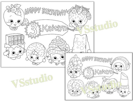 shopkins birthday party favor  shopkins coloring pages  pdf file