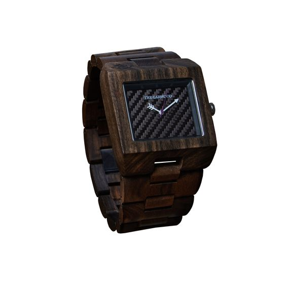 Makes a great gift for the watch collector - The Garwood Kuta black wood watch