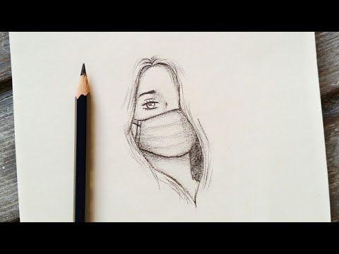 رسم سهل تعليم رسم بنت ترتدي كمامة بالرصاص للمبتدئين بطريقة سهلة وبسيطة رسم بنات كيوت Youtube Best Friend Drawings Drawings Of Friends Art