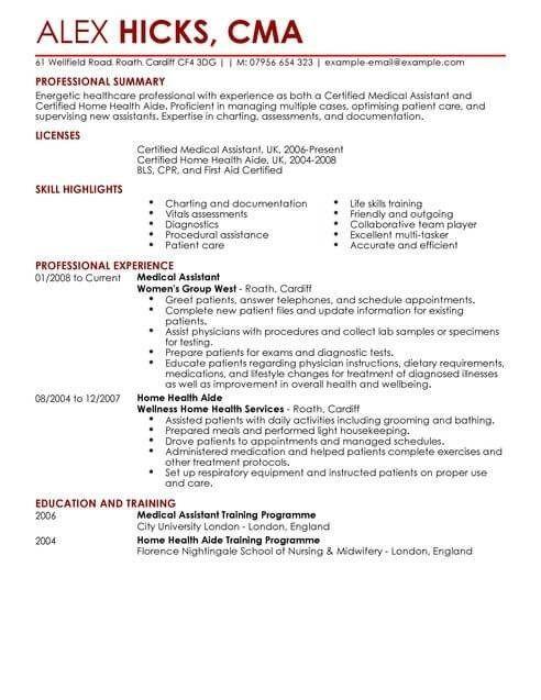 Healthcare Cv Templates Cv Samples Examples Examples Healthcare Samples Templates Medical Resume Template Resume Examples Medical Resume