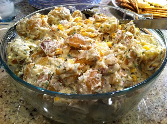 Playing With My Food!: Warm Potato Salad (Earls Restaurant Copycat Recipe) - So yummy. I used Epicure's Lemon dilly dip mix.